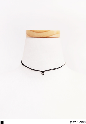 [JEWELRY] DAILY TWO LINE CHOCKER