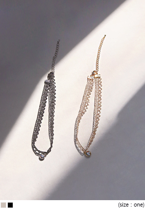 [JEWELRY] GLITTER LACE CUBIC CHOCKER