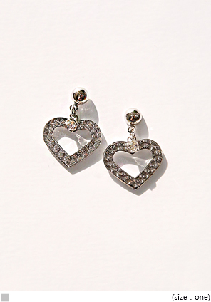 [JEWELRY] TWINKLE HEART CUBIC EARRING
