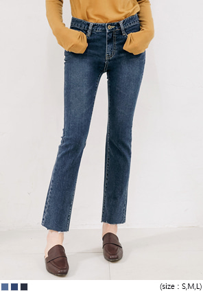 [BOTTOM] STRAIGHT WASHING DENIM PANTS