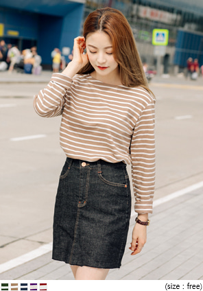 [TOP] BLISS SIMPLE STRIPE T