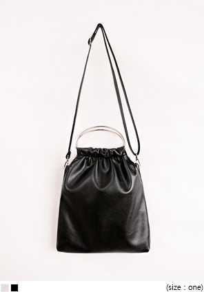 [BAG] FRECH HANDLE RING LEATHER BAG