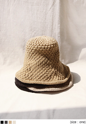 [ACC] DAISY KNIT BUCKET HAT