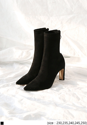 [SHOES] O RING SUEDE ANCKLE BOOTS