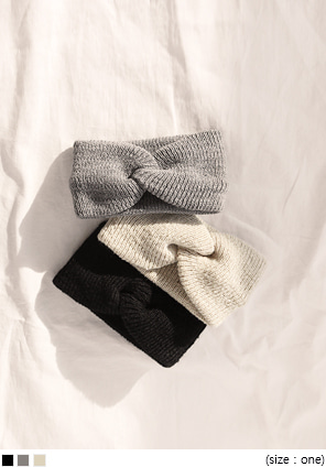 [ACC] TWIST KNIT TURBAN