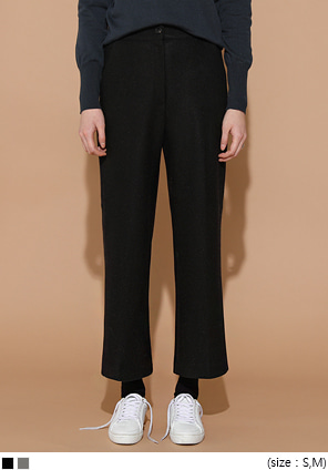 [BOTTOM] SHELL BUTTON BANDING SLACKS