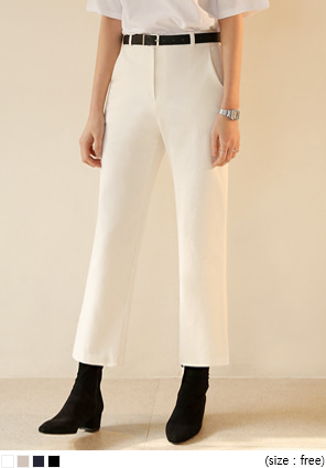 [BOTTOM] ELROY STRAIGHT COTTON PANTS