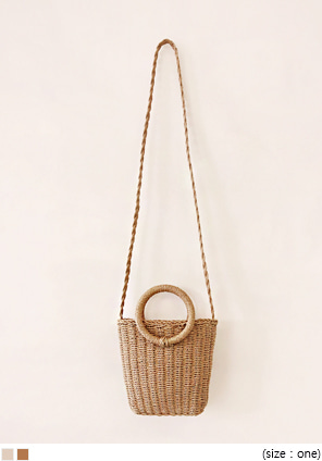 [BAG] STRAW MINI CROSS BAG