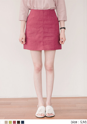 [SKIRT] TWO POCKET LINEN SKIRT