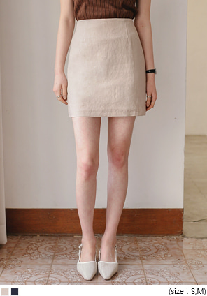 [SKIRT] LIGHT LINEN SET-UP H LINE SKIRT