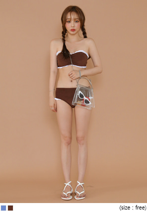 [SWIM WEAR] TOWEL FRILL TANK TOP BIKINI