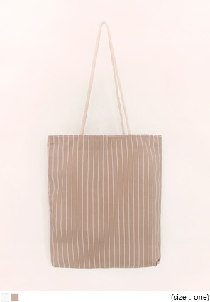 [BAG] LINEN STRIPE ECO BAG