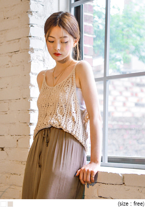 [TOP] ELENA SEETHROUGH KNIT SLEEVELESS