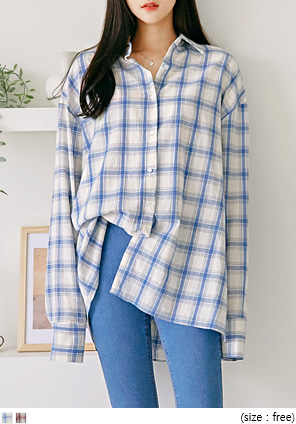 [TOP] GET IT LOOSE TARTAN CHECK SHIRTS