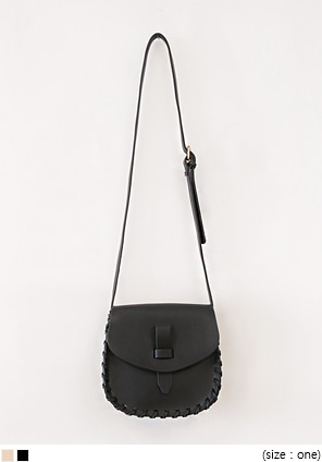 [BAG] WEAVE STITCH LEATHER BAG
