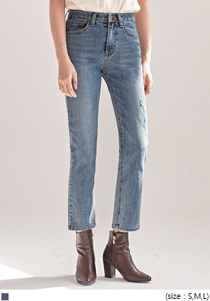 [BOTTOM] DOWN WASHING DENIM PANTS