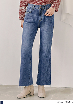 [BOTTOM] DELICATE WIDE DENIM PANTS