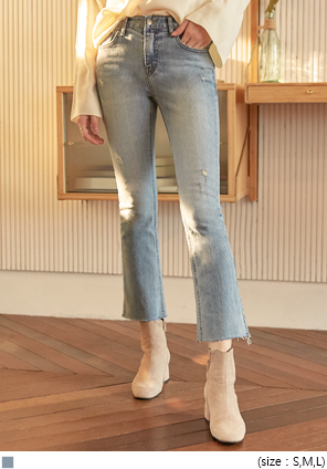 [BOTTOM] STAY SEMI BOOTS DENIM PANTS