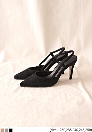 [SHOES] SUEDE STILETTO SLINGBACK HEEL