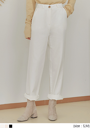 [BOTTOM] HIGH FIT COTTON WIDE PANTS
