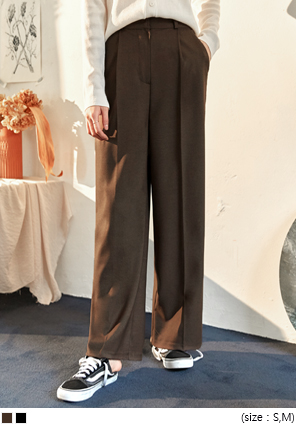 [BOTTOM] ANTIQUE SET-UP WIDE SLACKS