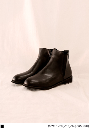 [SHOES] CASUAL ZIPPER CHELSEA BOOTS