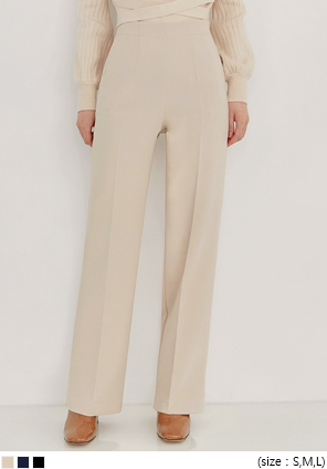 [BOTTOM] MIND SIDE ZIPPER STRAIGHT SLACKS