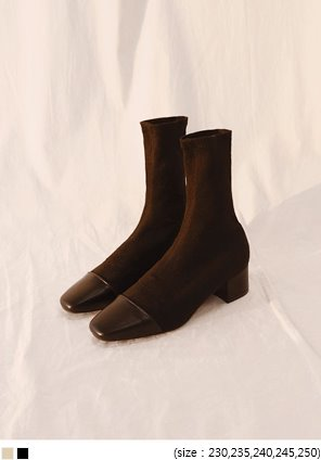 [SHOES] GOLGI MIDDLE SOCKS ANKLE BOOTS