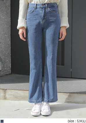 [BOTTOM] CLOSE BOOTS CUT DENIM PANTS