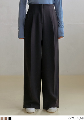 [BOTTOM] SAINT PINTUCK WIDE SLACKS