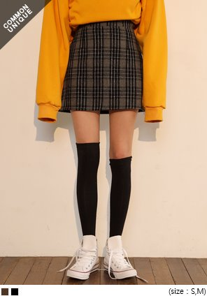 [SKIRT] CHECK A LINE MINI SKIRT