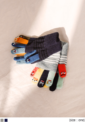[ACC] CUTIE FINGER COLOR MIX GLOVE