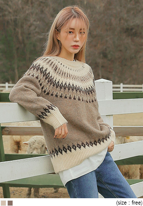 [TOP] FLEX ALPACA WOOL 60% RAGLAN KNIT