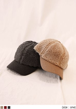 [ACC] COLOR MIX LAMB DUMBLE BALL CAP
