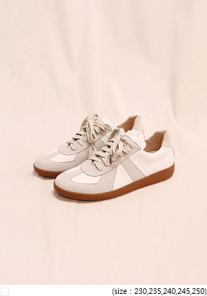 [SHOES] BUNT SUEDE MIX SNEAKERS
