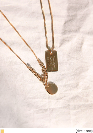 [JEWELRY] TIMING GOLD NECKLACE - 2 TYPE