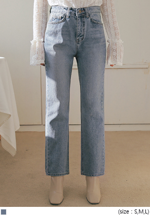 [BOTTOM] ABOUT STRAIGHT DENIM PANTS