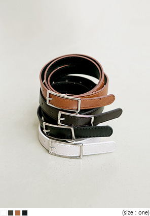 [ACC] SQUARE SILVER SMALL TWO BELT