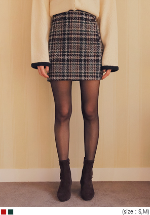 [SKIRT] CROWN TWEED H LINE MINI SKIRT