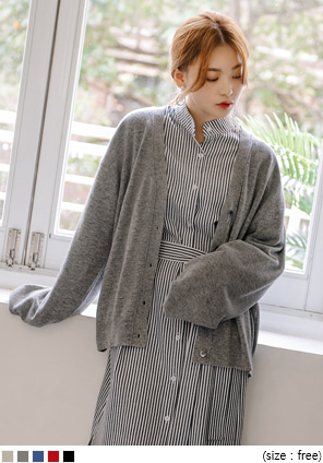 [OUTER] MARGARET WOOL KNIT CARDIGAN
