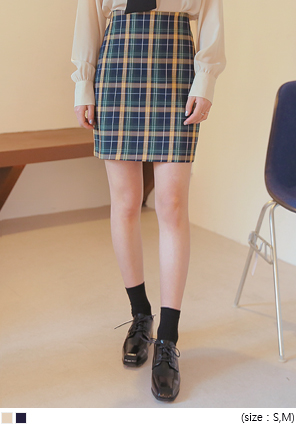 [SKIRT] DOLOS CHECK COLOR MIX MINI SKIRT