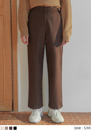 [BOTTOM] KERO WOOL 55% STRAIGHT SLACKS