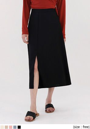 [SKIRT] JUDE SLIT FLARE LONG SKIRT