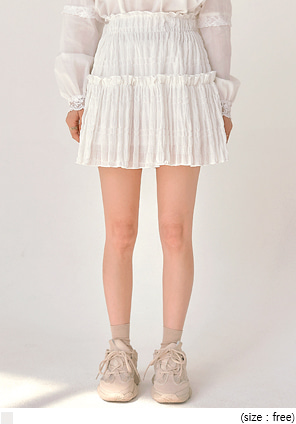[SKIRT] ROSELLE RUFFLE BANDING MINI SKIRT