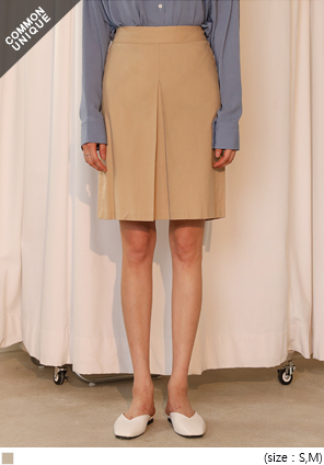 [SKIRT] RU SPAN FRONT PINTUCK SKIRT