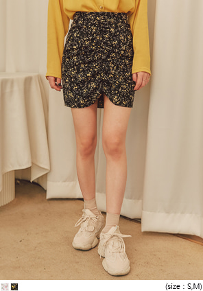[SKIRT] MERIN FLORAL SHIRRING MINI SKIRT