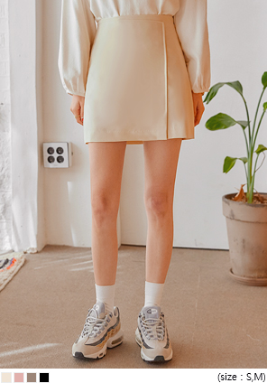 [SKIRT] NOVEN SET-UP SLIT MINI SKIRT