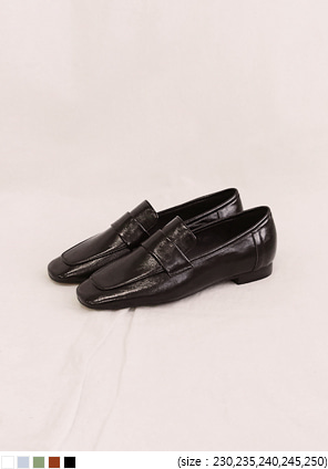[SHOES] DANTE SQUARE LEATHER LOAFER