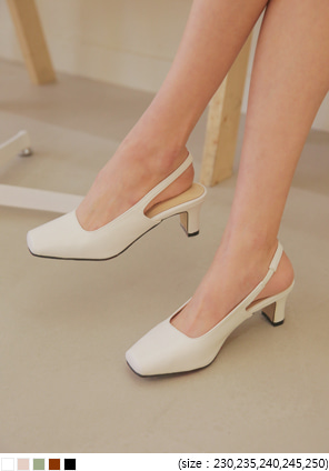 [SHOES] MOREN SLINGBACK MIDDLE HEEL