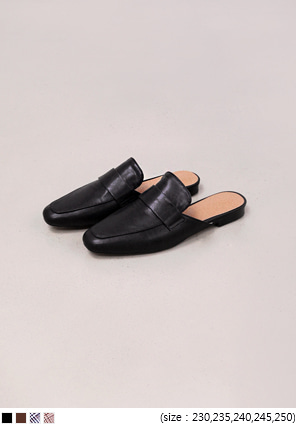 [SHOES] SQUARE FLAT BLOAFER - 2 TYPE